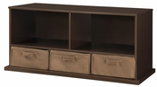 Shelf Storage Cubby with Three Baskets - Espresso