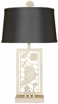 Beach Laser Cut Metal Shells 28.5''H Table Lamp with Twilight Shade - White [10T210-FS-PAS]