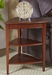 Favorite Finds 21''W x 27''H Shield 3 Tier Corner Table - Glazed Auburn [9009-FS-LCK]