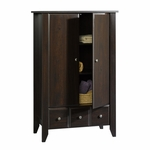 Shoal Creek 35''W x 54''H Wooden Armoire with 2 Adjustable Shelves - Jamocha [409934-FS-SRTA]