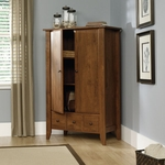 Shoal Creek 35''W x 54''H Wooden Armoire with 2 Adjustable Shelves - Oiled Oak [410420-FS-SRTA]