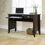 Shoal Creek 47''W x 30''H Wooden Computer Desk with Flip-Down Molding - Jamocha [409936-FS-SRTA]