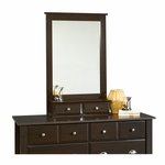 Shoal Creek 27''W x 42''H Wooden Frame Mirror with 2 Small Drawers - Jamocha [410133-FS-SRTA]