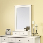 Shoal Creek 27''W x 42''H Wooden Frame Mirror with 2 Small Drawers - White [411236-FS-SRTA]