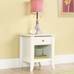 Shoal Creek 21''W x 24''H Wooden Night Stand with Open Storage - Soft White [411200-FS-SRTA]