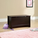 Shoal Creek 35''W x 19''H Wooden Storage Chest with Lid-Stay Safety Hardware -Jamocha