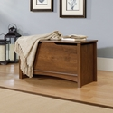 Shoal Creek 35''W x 19''H Wooden Storage Chest with Lid-Stay Safety Hardware -Oiled Oak