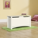 Shoal Creek 35''W x 19''H Wooden Storage Chest with Lid-Stay Safety Hardware -Soft White