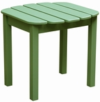 Outdoor Solid Wood 19''W X 17''H Adirondack Side Table - Moss [T-54206-FS-WHT]