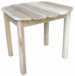 Outdoor Solid Wood 19''W X 17''H Adirondack Side Table - Unfinished [T-519-FS-WHT]