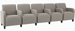 Siena Series 5 Seats with Center Arms [Q5403G3-FS-RO]