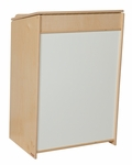 Sign-In Center with Hinged Top and Underneath Storage Unit - Assembled - 25''W x 17''D x 37''H [34000-WDD]