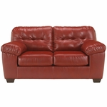 Signature Design by Ashley Alliston Loveseat in Salsa DuraBlend [FSD-2399LS-RED-GG]