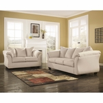 Signature Design by Ashley Darcy Living Room Set in Stone Fabric [FSD-1109SET-STO-GG]