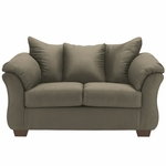 Signature Design by Ashley Darcy Loveseat in Sage Microfiber [FSD-1109LS-SAG-GG]
