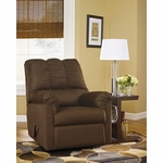 Signature Design by Ashley Darcy Rocker Recliner in Cafe Fabric [FSD-1109REC-CAF-GG]