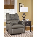 Signature Design by Ashley Darcy Rocker Recliner in Cobblestone Fabric [FSD-1109REC-COB-GG]