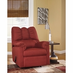 Signature Design by Ashley Darcy Rocker Recliner in Salsa Fabric [FSD-1109REC-RED-GG]