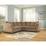 Signature Design by Ashley Darcy Sectional in Mocha Fabric [FSD-1109SEC-MOC-GG]