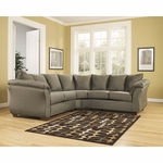Signature Design by Ashley Darcy Sectional in Sage Fabric [FSD-1109SEC-SAG-GG]