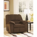 Signature Design by Ashley Dominator Rocker Recliner in Cafe Fabric [FSD-8799REC-CAF-GG]