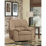 Signature Design by Ashley Dominator Rocker Recliner in Mocha Fabric [FSD-8799REC-MOC-GG]