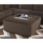 Signature Design by Ashley Jessa Place Oversized Ottoman in Chocolate Fabric [FSD-6049OTT-CHO-GG]