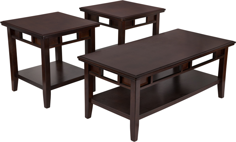 Signature Design By Ashley Logan 3 Piece Occasional Table Set Fsd Ts3 37db Gg By Flash