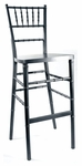 Silver Beechwood European Chiavari Bar Stool - 16.5''W X 16''D X 45.5''H [BBSSIL-AS]