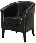 Simon Club Chair - Black [36077BLK-01-AS-U-FS-LIN]