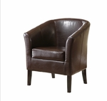 Simon Club Chair - Brown [36077BRN-01-AS-U-FS-LIN]