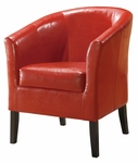 Simon Club Chair - Red [36077RED-01-AS-U-FS-LIN]