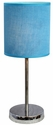 Simple Designs Chrome Basic Table Lamp with Blue Shade