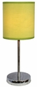 Simple Designs Chrome Basic Table Lamp with Green Shade