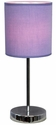 Simple Designs Chrome Basic Table Lamp with Purple Shade