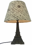 Simple Designs Eiffel Tower Lamp with Paris Shade [LT3010-BSL-FS-ATR]