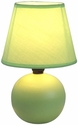 Simple Designs Green Ceramic Globe Table Lamp