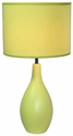 Simple Designs Green Oval Base Ceramic Table Lamp