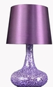 Simple Designs Mosaic Genie Table Lamp - Purple