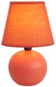 Simple Designs Orange Ceramic Globe Table Lamp