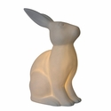 Simple Designs Porcelain Bunny Rabbit Shaped Table Lamp