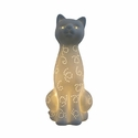 Simple Designs Porcelain Kitty Cat Shaped Table Lamp