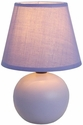 Simple Designs Purple Ceramic Globe Table Lamp