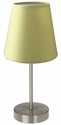 Simple Designs Sand Nickel Basic Table Lamp with Green Shade