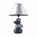 Simple Designs Shades of Gray Ceramic Stone Table Lamp