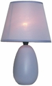 Simple Designs Small Purple Oval Ceramic Table Lamp