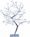Simple Designs Small White Morning Glory LED Lighted Decorative Tree