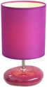 Simple Designs Stonies Purple Small Stone Look Table Lamp