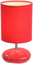 Simple Designs Stonies Red Small Stone Look Table Lamp