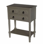 Simple Simplicity 3 Drawer Chest - Gray [550497-FS-DCON]